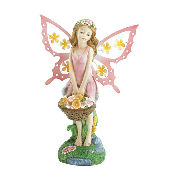Fairy Collectible Figurines, Flower Mini Fairy Figurines And Statues Plastic