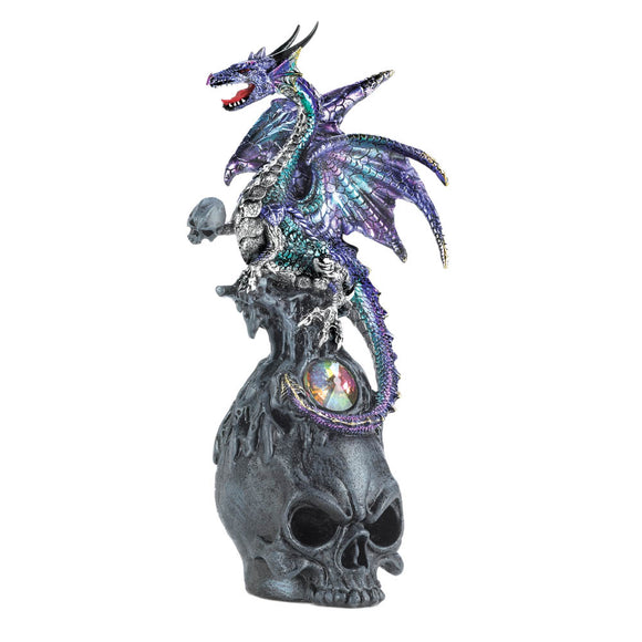 Dragon Figurines Collectible, Blue And Purple Dragon Figurines, Polyresin