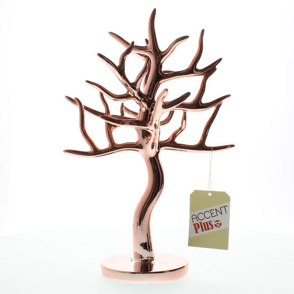 Jewelry Organizer Stand, Unique Jewelry Display Holder, Rose Gold Jewelry Tree