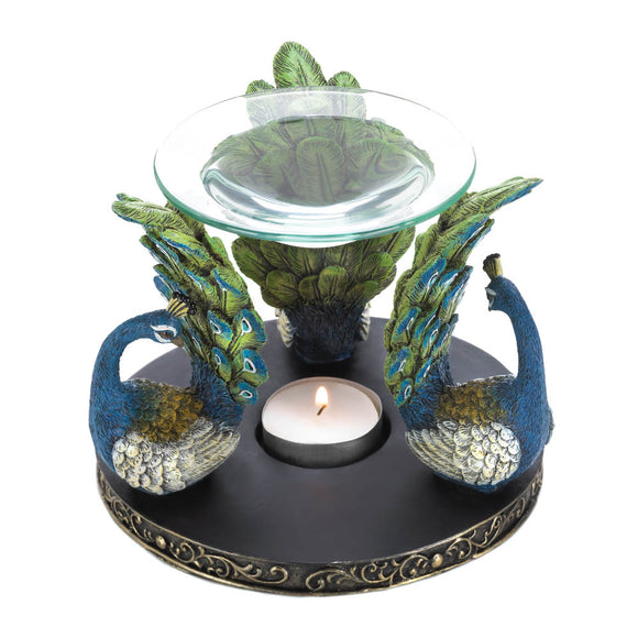 Essential Oils Warmer, Fragrance Oil Warmer, Elegant Peacock Plume Oil Warmer