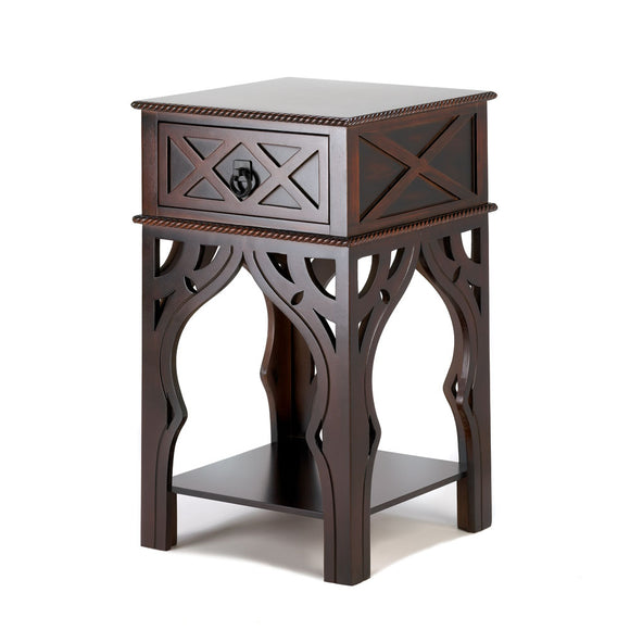 Side Tables With Storage, Espresso Sofa Side Table, Moroccan-style Side Table