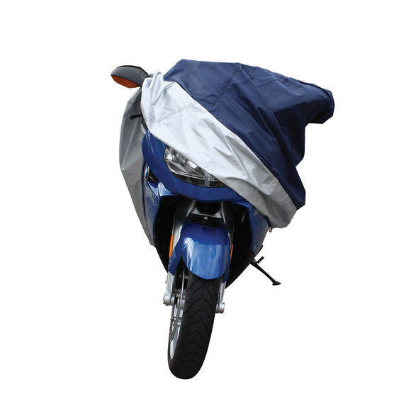Motorcycle Covers Honda, Xl All Weather Silver Blue Motorcycle Cover Waterproof