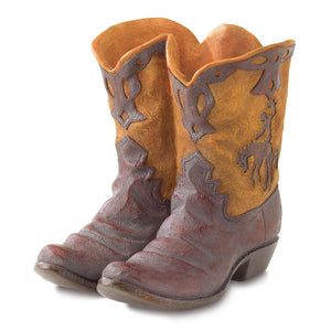 Western Boot Planter, Small Western Cowboy Garden Patio Planter Shoes
