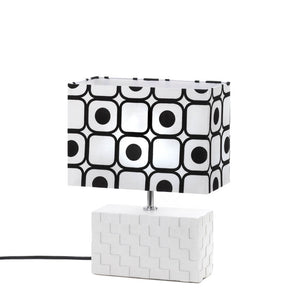Table Lamps For Living Room, Ceramic Modern Small White Bedside Lamp For Bedroom