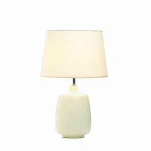 White Desk Lamps, Chic Bedside Table Lamps For Bedrooms Light - Ceramic