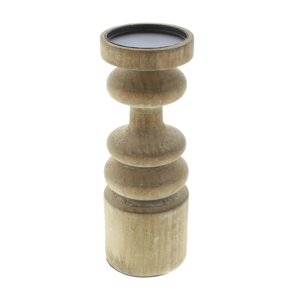Pillar Candle Holder, Rustic Decorative Pillar Candle Holder Wooden
