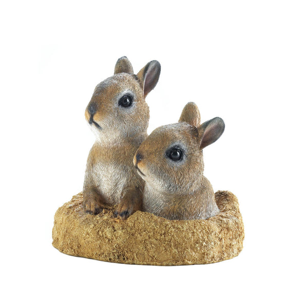 Rabbit Garden Statue, Polyresin Outdoor Decorations Garden Decor Statues Rabbit