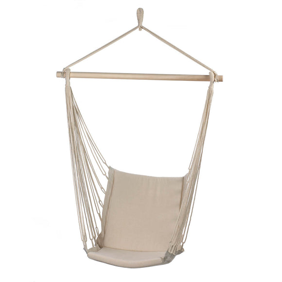 Portable Hammock, Outdoor Hammock Chair Patio Rope Cotton Hammock Chair For Kids