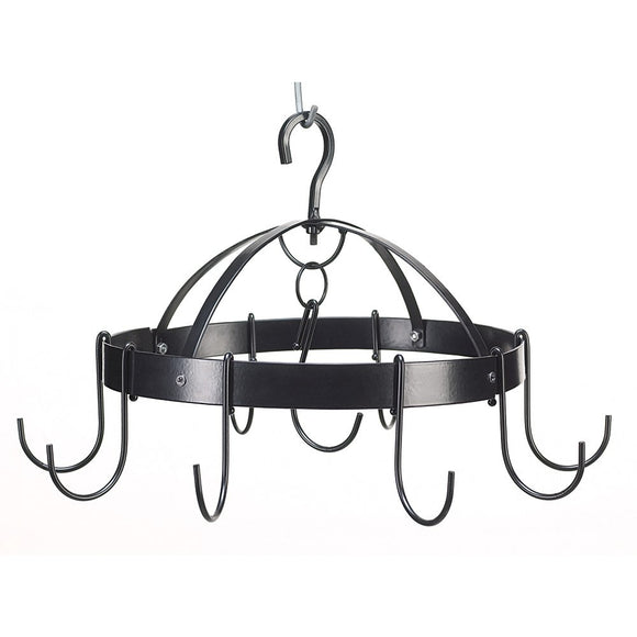 Pot Racks Hanging, Overhead Antique Pot Rack Black Kitchen Mini Round Pot Hanger
