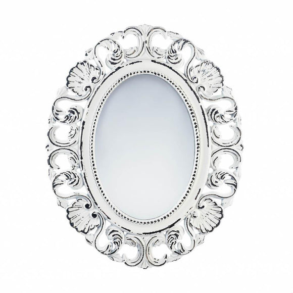 Wall Mirrors, Antique Girls Bedroom Decorative Off White Etched Wall Mirror