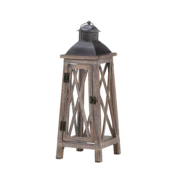 Candle Lantern Large, Candle Lanterns For Weddings, Tower Wood Candle Lanterns