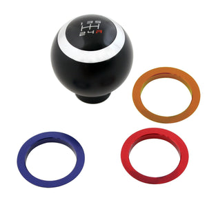 Shift Knobs Manual, Car  Ball Shift Knob, Color Rings Universal Gear Shift Knob