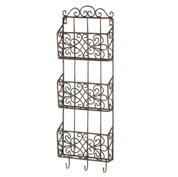 Wall Storage Rack, Wall Mounted Rack Organizer For Mail Magazine File