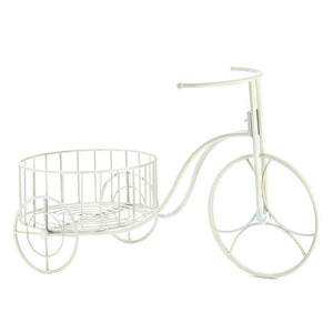 Large Outdoor Planters, White Iron Bicycle Modern Outdoor Planters