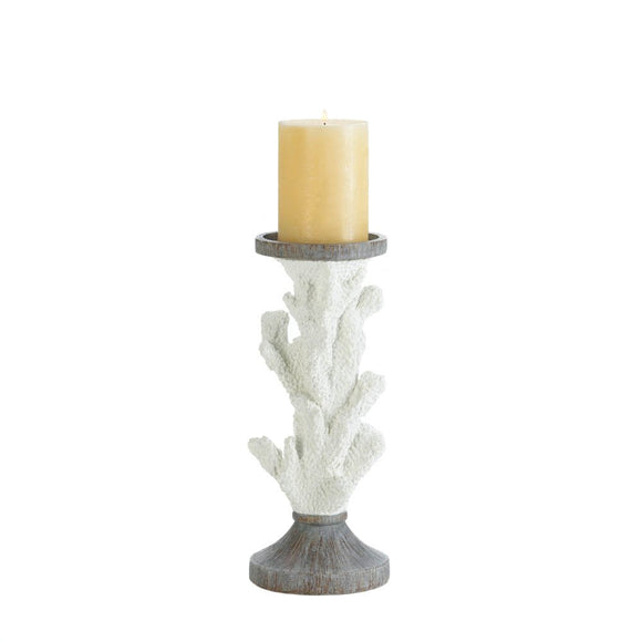 Candleholders Pillars, Decorative  Gray White Pillar Candle Holder Unique