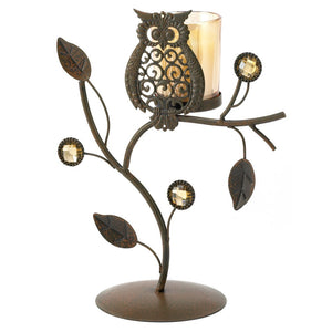 Metal Candle Holder, Earthy Colored Decorative Iron Candle Holder Stand