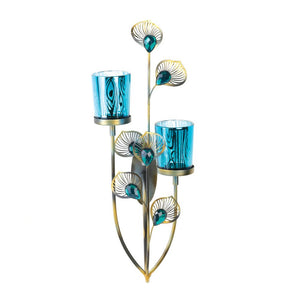 Candle Sconce, Modern Glass Metal Wall Sconce Candle Holder