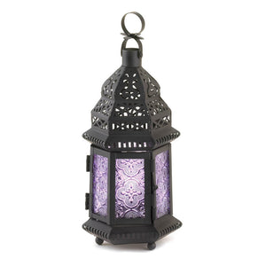 Moroccan Lanterns, Decorative Candle Lanterns Light Purple For Candles Outdoor