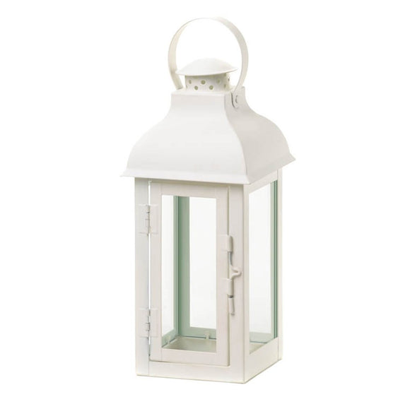 White Candle Lantern, Decorative Wrought Iron Lanterns For Candles