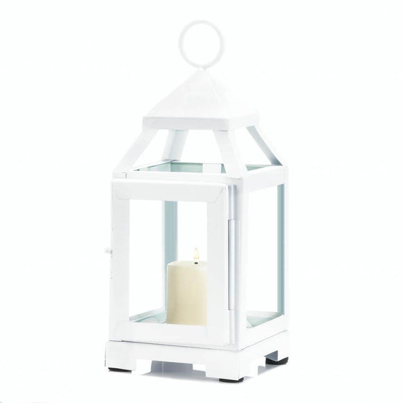 Candle Lanterns Decorative White, Small Iron Lantern Candle Holder Decor
