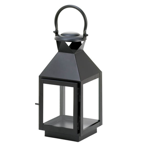 Candle Lantern Decor, Iron Outdoor Rustic Decorative Black Candle Lantern Holder