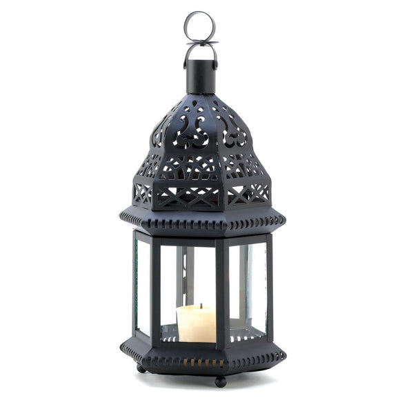 Metal Candle Lantern, Moroccan Outdoor Patio Candle Lanterns Metal Candle Holder