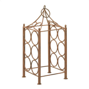 Metal Wine Rack, Countertop Iron Wine Rack Art Deco