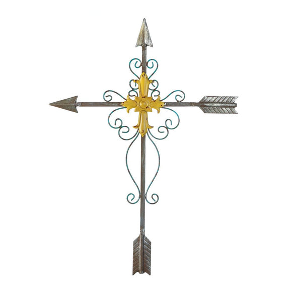 Cross Wall Mount, Rustic Large Metal Crosses Wall Decor