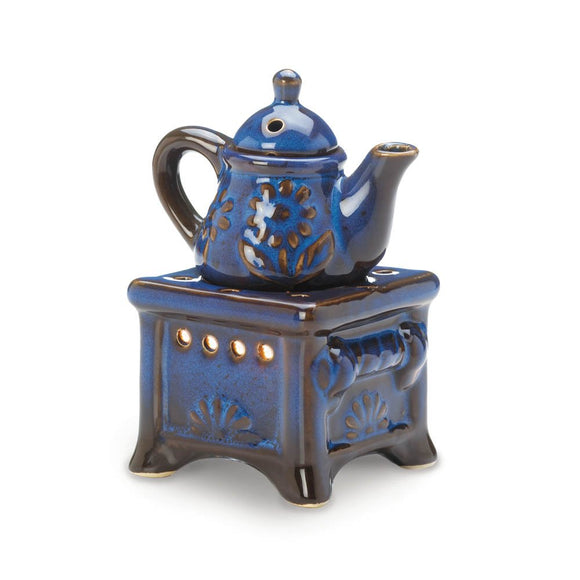 Best Oil Warmer, Blue Ceramic Candle Holder Essential Oil Burner Warmer