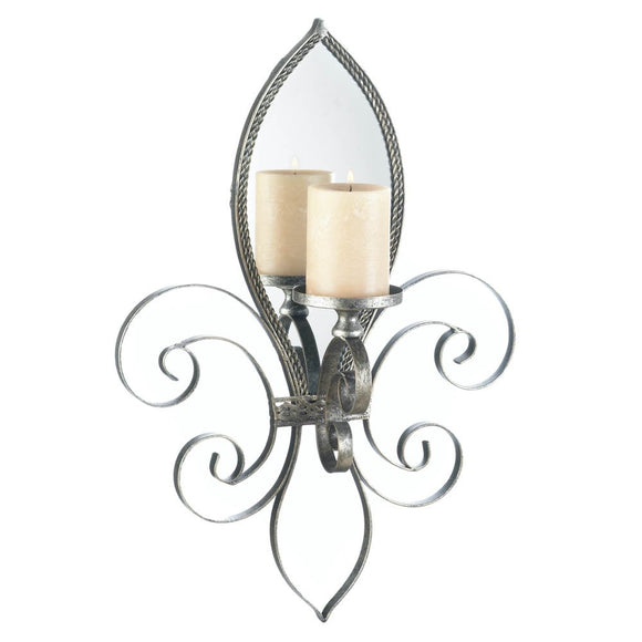 Decorative Candle Sconces, Mirrored Indoor Modern Sconces Wall Decor