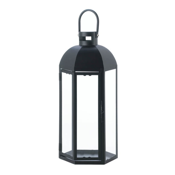 Black Candle Lantern, Large Outdoor Metal Candle Lanterns Holder