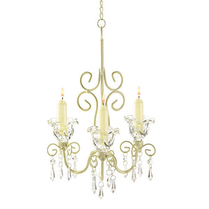 Decorative Candle Chandelier, Antique Chandelier Candle Holders - Off White