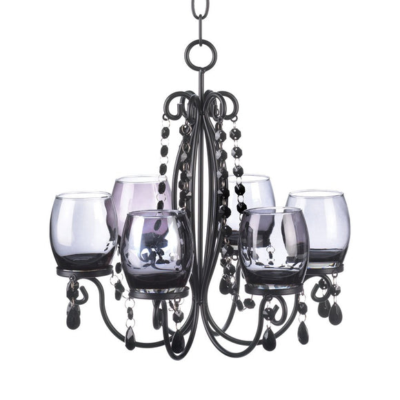 Chandeliers Candle Holder, Hanging Black Chandelier Candle Holders - Iron