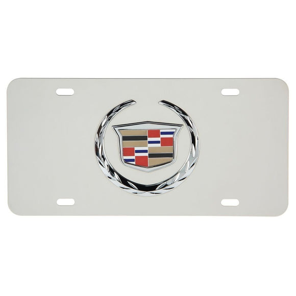 Universal License Plate, Steel Cadillac Logo Car Front License Plate Decorative