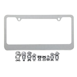 Decorative License Plate Frame, Universal Personalized License Frame For Family