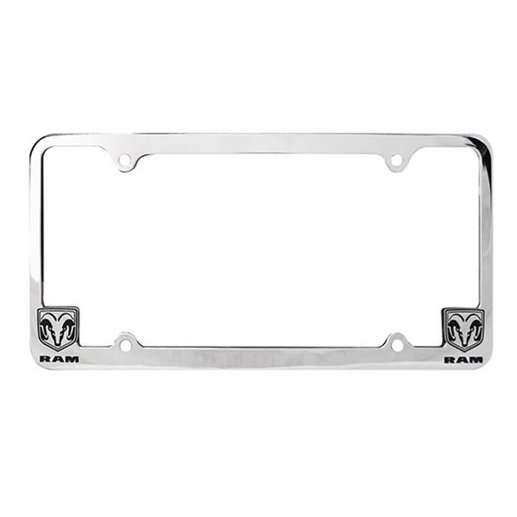 License Plate Chrome Frame, Dodge Ram License Plate Frame Chrome Silver