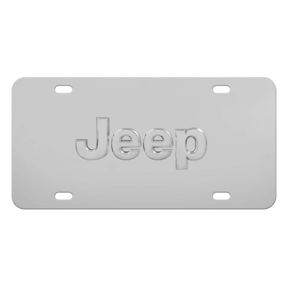 Auto License Plate, Jeep Decorative Rear Front Stainless Steel Licenses Plate