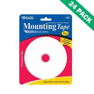 Craft Foam Tape, Strong Foam Double Sided Adhesive Foam Tape - 24 Units