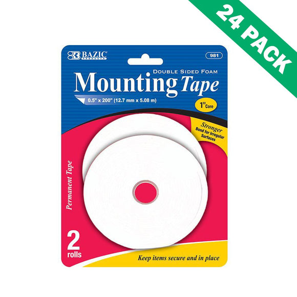 Foam Adhesive Tape, Strong Outdoor Foam Mounting Tape Double Sided - 24 Pack