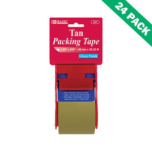 Tan Packing Tape, 1.88 By 800 Inch Premium Box Packing Tape With Dispenser