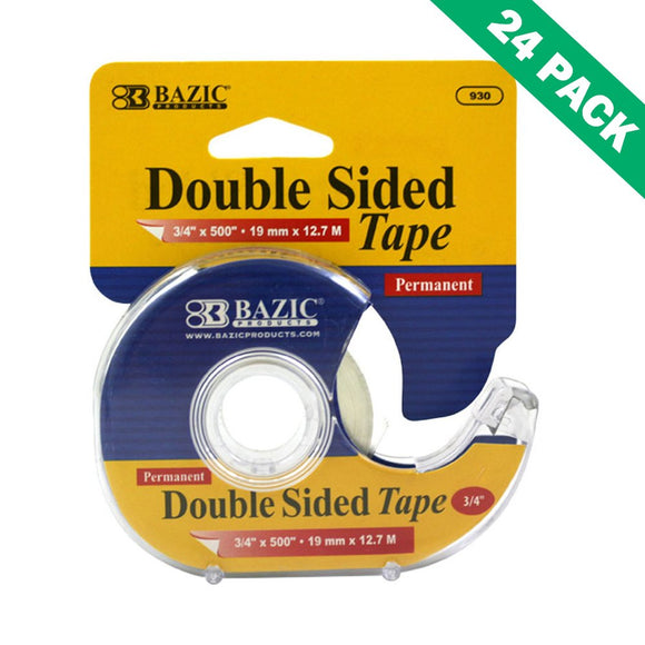 Double Sided Tape, Poster 3/4 Inch Permanent Double Sided Tape Crafts Set Of 24