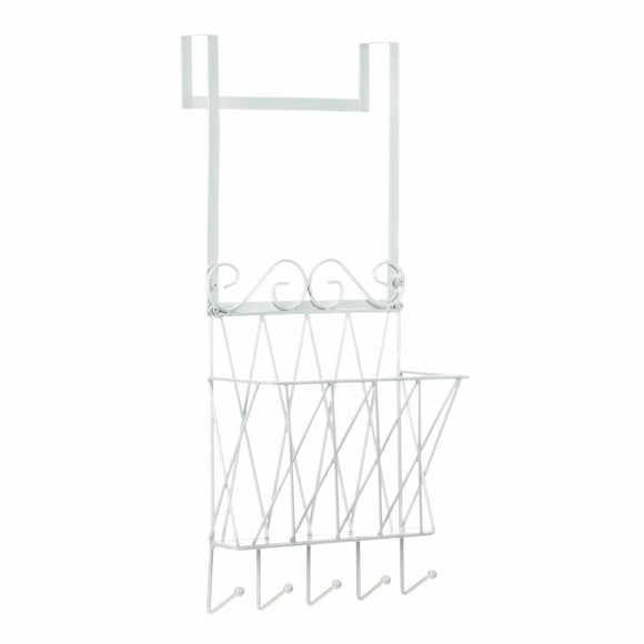 Over-the-door Rack, White Bedroom Hanging Over Door Storage Organizer With Hooks