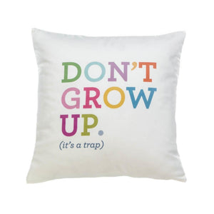 White Throw Pillows, Polyester Square Throw Pillow Decor For Fun Decor