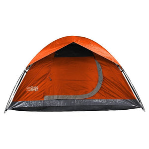Outdoor Tents, 2-person Orange Camping Tent Backpacking - Polyester Fabric