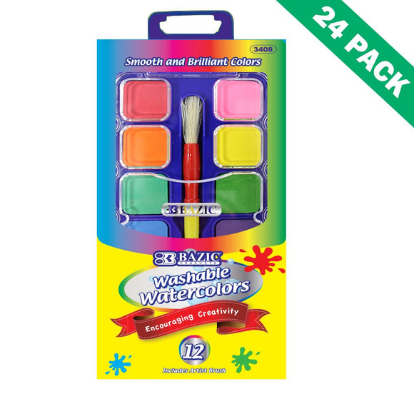 Watercolor Paint Set, Painting Watercolor With Kids Paint Mixing Palette