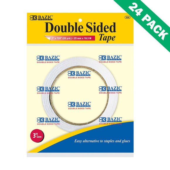 Double Sided Tape Adhesive, Bazic Best Permanent Double-sided Tape For Crafting