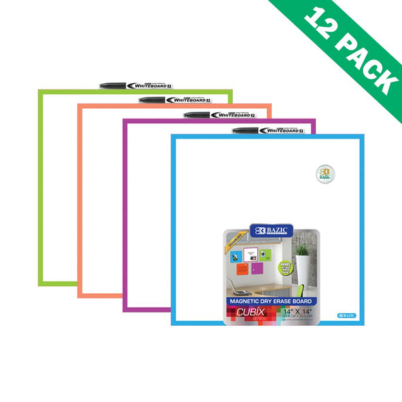 Dry Erase Board Tiles, Wall Mounted Magnetic Dry Erase Board White (set Of 12)