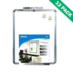 Dry Erase Board, Professional Mounted Magnetic Dry Erase Marker Board Set Of 12