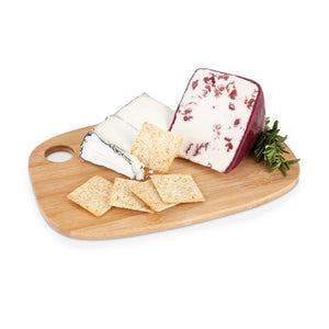 Bamboo Cheese Board, Modern Serving Cutting Small Cheeseboard Rectangular