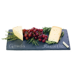 Small Cheese Board, 2 Chalk Cutting Serving Cheese Slate Board Rectangular